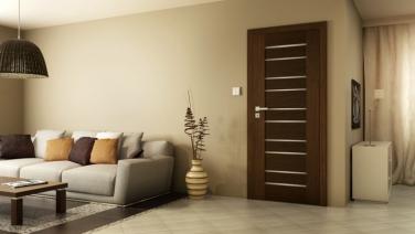 Interiérové dvere so striebornými pruhmi