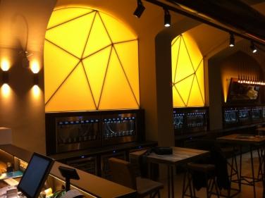Svietiaca stena LED